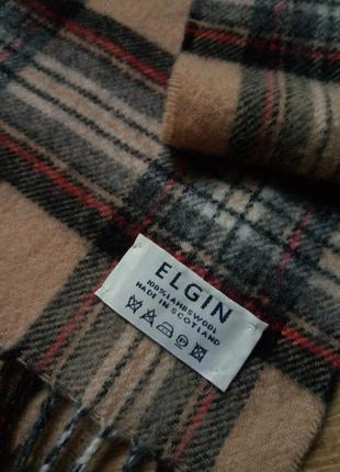 Шерстяной шарф elgin, натуральный теплый шарф, базовый шарф,кашемировый шарфик1