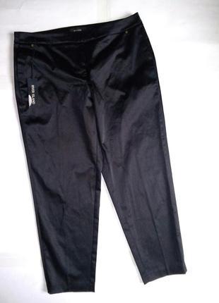 Укороченые брюки сатин/атласные класические брюки3
