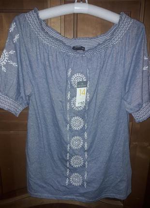 Блуза туника вышивка 14 р-р1