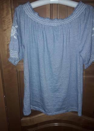 Блуза туника вышивка 14 р-р2
