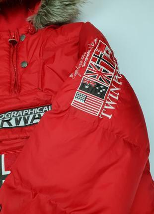 Куртка болид красная geographical norway оригинал зимняя5