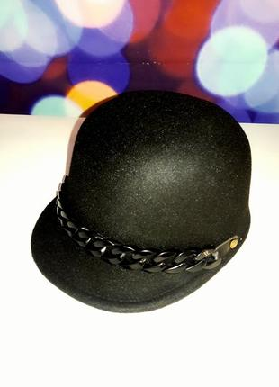 Шляпка кепка фуражка жокейка .4 цвета. премиум качество.шерсть1