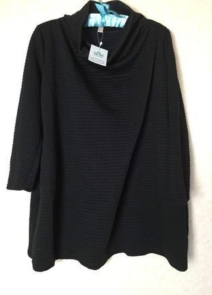 Теплая туника либо платье с воротом хомутом и карманами wvsender1