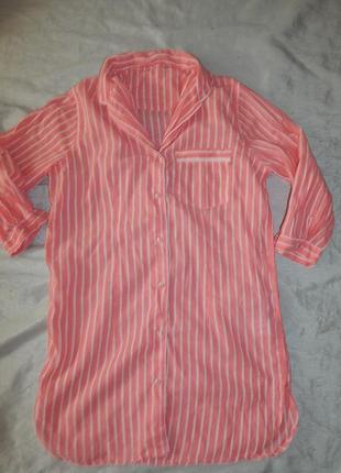 Peacocks халат-рубашка батистовый р6/83