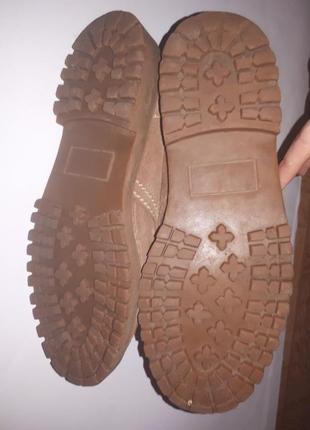 Ботинки замшевые ecco biom3