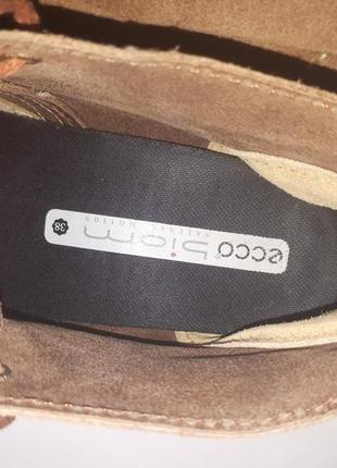 Ботинки замшевые ecco biom4