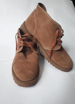 Ботинки замшевые ecco biom1