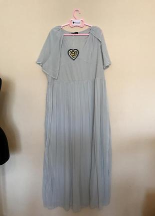 Платье макси с кейпом club l3