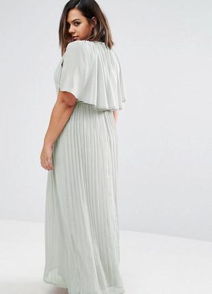 Платье макси с кейпом club l2