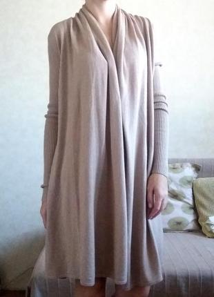 Кардиган цвета camel с шерстью в составе h&m