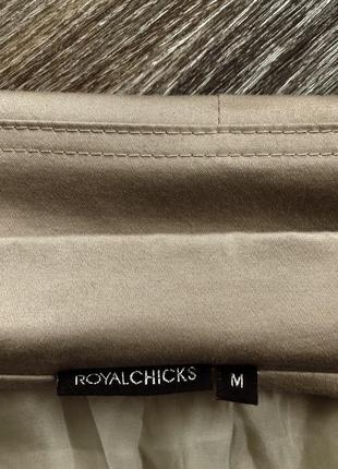Серо-бежевый хлопковый классический пиджак блейзер с кружевными отворотами royal chicks2