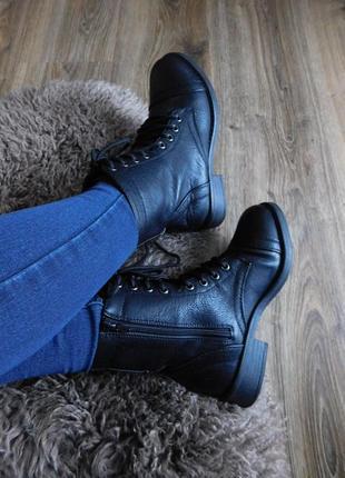Высокие ботинки  берцы на шнуровке в стиле милитари от atmosphere2