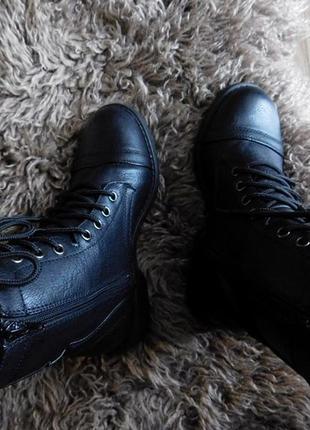 Высокие ботинки  берцы на шнуровке в стиле милитари от atmosphere3