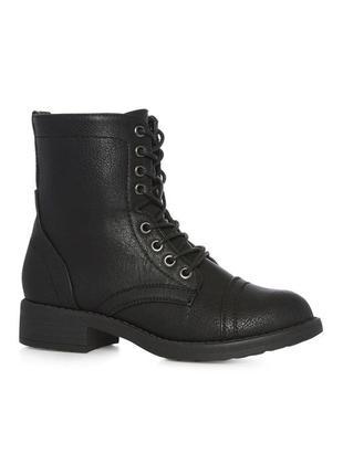 Высокие ботинки  берцы на шнуровке в стиле милитари от atmosphere1