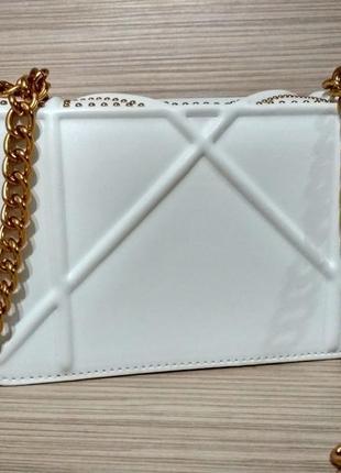 Белая сумка, клатч в стиле диор диорама4