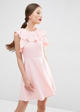Ліквідація товару до 29 грудня 2018 !!!   приталенное платье с оборками у горловины asos