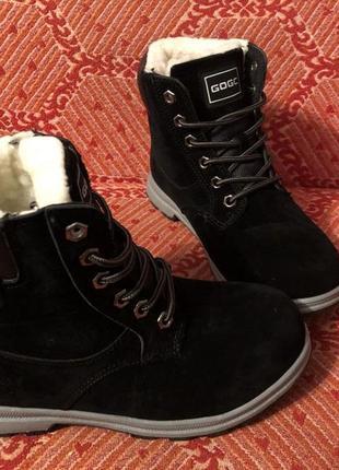 Новые чёрные зимние ботинки тимберденды размер 36,383