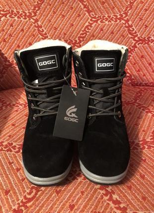 Новые чёрные зимние ботинки тимберденды размер 36,385