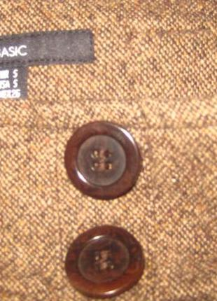 Актуальная брендовая  юбка с пуговицами спереди размер с-м3
