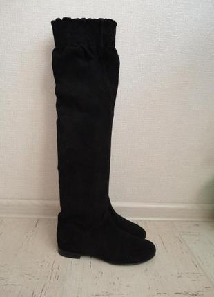 Женские сапоги в идеальном состоянии, размер 38, стелька-25 см натуральная замша2