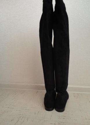 Женские сапоги в идеальном состоянии, размер 38, стелька-25 см натуральная замша3