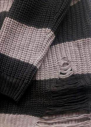 Крутой вязаный свитер, крупной вязки1