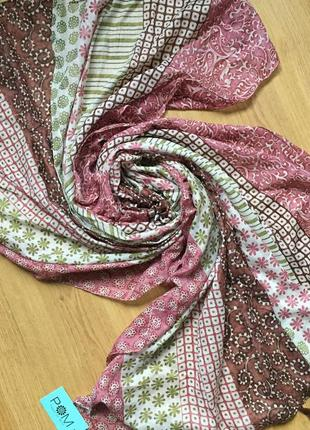 Классный нежный большой шарф палантин платок 100% котон2