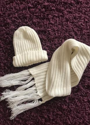 Комплект шапочка шарфік