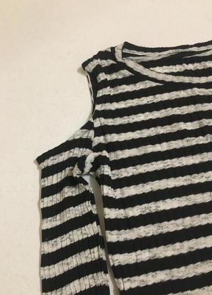 Нежнейшая блуза с открытыми плечами в рубчик, new look xs(6)3