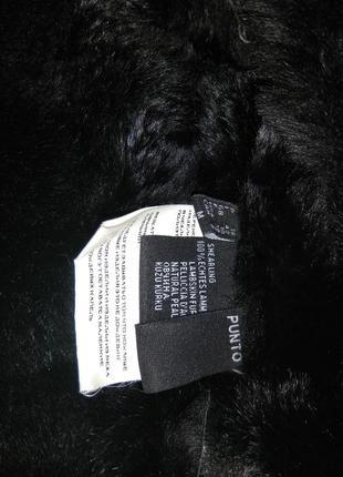 Фирменная дубленка -косуха punto с капюшоном из бобра5