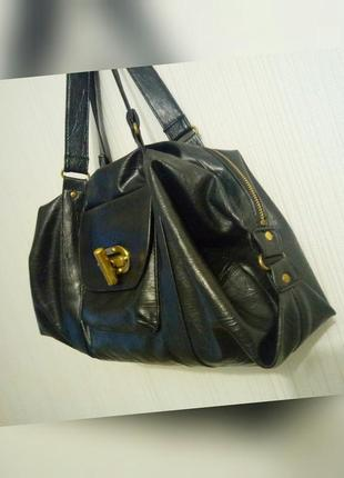 Мягкая сумка свободной формы медная фурнитура1
