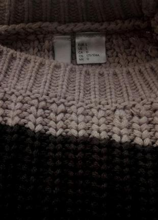 Крутой вязаный свитер, крупной вязки3
