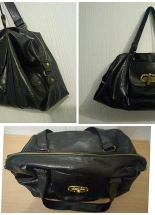 Мягкая сумка свободной формы медная фурнитура2