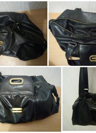 Мягкая сумка свободной формы медная фурнитура3