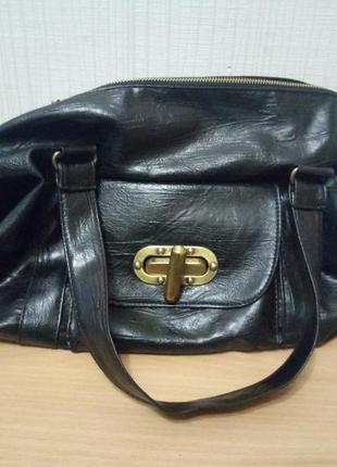 Мягкая сумка свободной формы медная фурнитура4