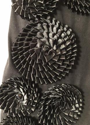 Чёрное мини платье4