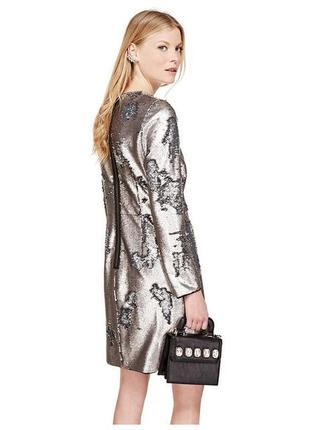 Шикарное вечернее новогоднее нарядное платье в двусторонних пайетках из премиум коллекции1