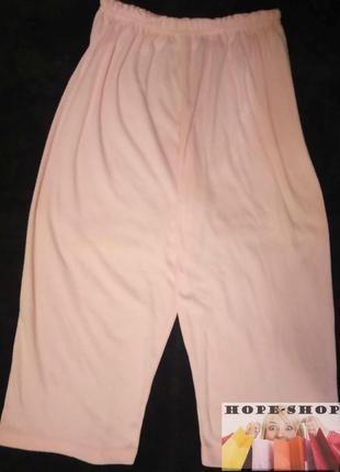 Домашние розовые,укороченные трикотажные пижамные брюки 10/121