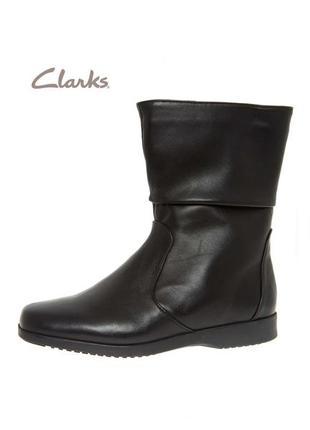 3439 сапожки clarks uk6е/eu39,5 шкіра сток1