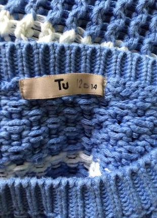 Красивый свитерок небесного цвета tu3