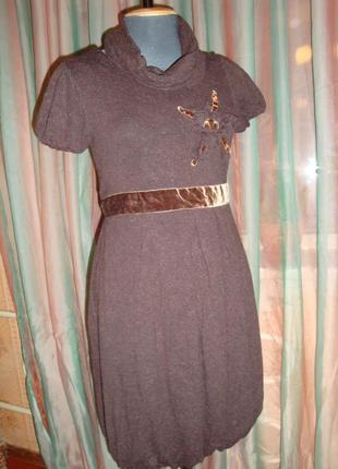 Теплое платье благородного коричневого цвета explosion.3