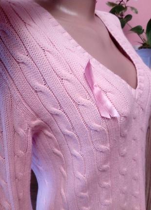Нежно розовый джемпер оригинал ralph lauren,размер м4
