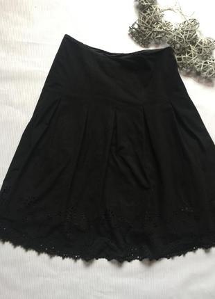 Шикарная юбка очень легкий замш на подкладке с ажуром1