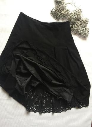 Шикарная юбка очень легкий замш на подкладке с ажуром3