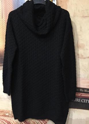 Свитер туника платье черная5