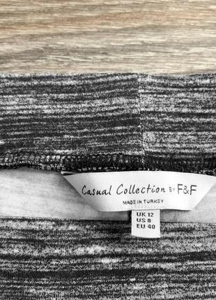 Черно-серые полосатые трикотажные повседневные штаны от f&f casual collection2
