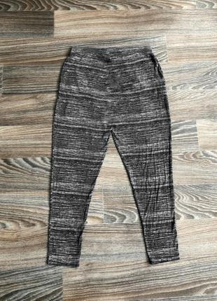 Черно-серые полосатые трикотажные повседневные штаны от f&f casual collection3