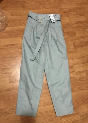 Классные брюки mango с высокой талией paper bag5
