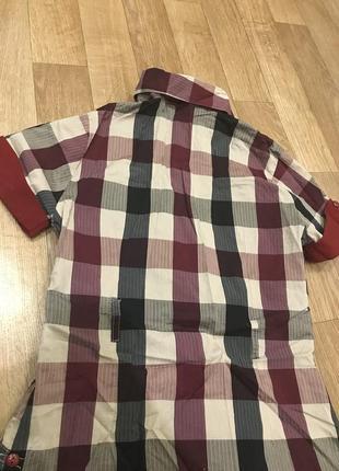 Клетчатая рубашка удлиненная5