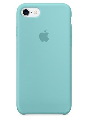 Чехол apple silicone case для iphone 8/7 sea blue бирюзовый2